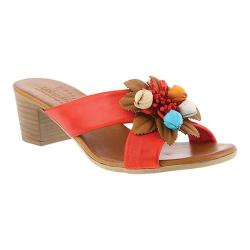 Women's Spring Step Bouquet Slide Red Leather