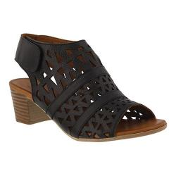 Women's Spring Step Dorotha Cage Shoe Black Leather