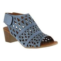 Women's Spring Step Dorotha Cage Shoe Blue Leather