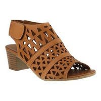 Women's Spring Step Dorotha Cage Shoe Brown Leather