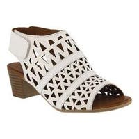 Women's Spring Step Dorotha Cage Shoe White Leather