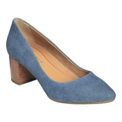 Women's Aerosoles Silver Star Pump Denim Combo Suede