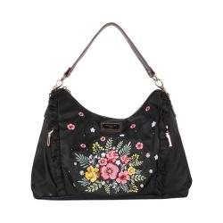 Women's Nicole Lee Adira Embroidery Garden Handbag Black