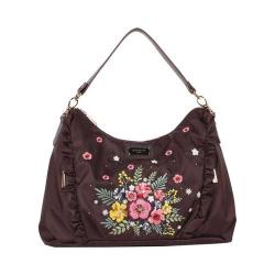 Women's Nicole Lee Adira Embroidery Garden Handbag Brown