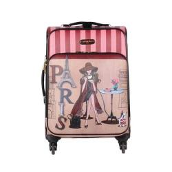 Women's Nicole Lee Cleo 20in Fashion Print Expandable Carry On Lonely in Paris