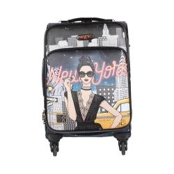 Women's Nicole Lee Cleo 20in Fashion Print Expandable Carry On New York with a Style