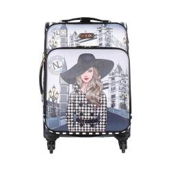 Women's Nicole Lee Cleo 20in Fashion Print Expandable Carry On Sabrina Dresses Black