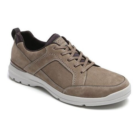Men's Rockport City Edge Lace Up Sneaker Taupe Nubuck