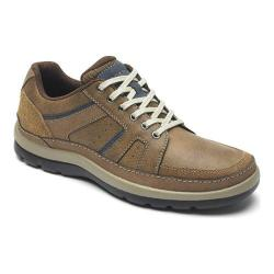 Men's Rockport Get Your Kicks Mudguard Lace Up Sneaker Tan Embossed Leather