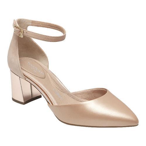 Rockport Salima Total Motion Ankle Strap Block Heel Pumps DnYyxplIc