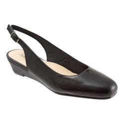 Women's Trotters Lenore Slingback Black Soft Smooth Nappa Leather