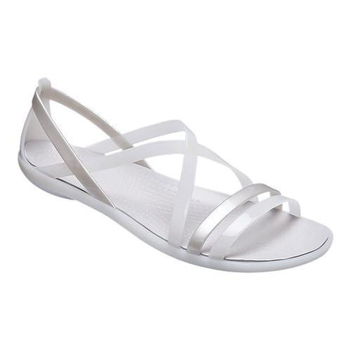 12246c860424 Shop Women s Crocs Isabella Strappy Sandal Oyster Pearl White - Free  Shipping On Orders Over  45 - Overstock - 20045308