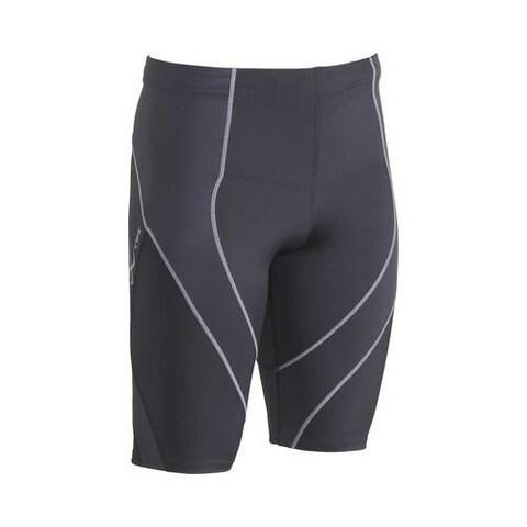 Men's CW-X Pro Shorts Charcoal/Charcoal/Silver Stitch