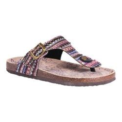 Women's MUK LUKS Tina Thong Sandal Multi Polyester (5 options available)