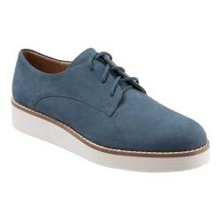 Women's SoftWalk Willis Oxford Denim Smooth Nubuck Leather