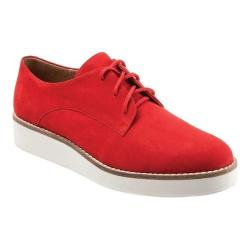 Women's SoftWalk Willis Oxford Red Smooth Nubuck Leather