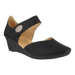Women's Spring Step Desiree Mary Jane Black Leather
