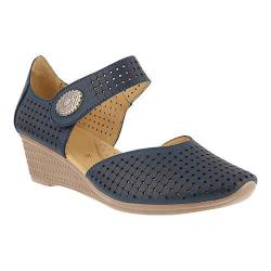 Women's Spring Step Desiree Mary Jane Navy Leather