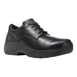 Men's Timberland PRO Valor Oxford Soft Toe Work Shoe Black Smooth Full Grain Leather