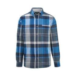 Men's Woolrich Eco Rich Timberline Long Sleeve Shirt Deep Indigo Plaid Classic Fit