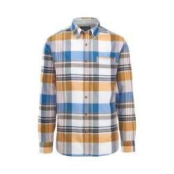 Men's Woolrich Eco Rich Timberline Long Sleeve Shirt Mountain Blue Multi Modern Fit