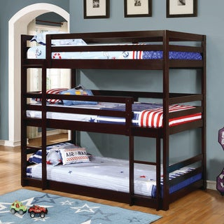 Taylor & Olive Hale Cappuccino 3-tier Bunk Bed