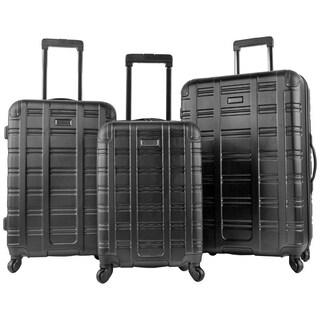 Kenneth Cole Reaction Gramatik 3-Piece Lightweight Diamond Textured Hardside Spinner Luggage Set