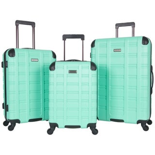 Kenneth Cole Reaction Gramatik 3-Piece Lightweight Diamond Textured Hardside Spinner Luggage Set