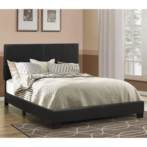 Porch & Den Manes Faux Leather Upholstered Bed