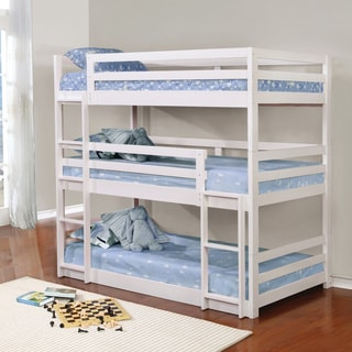 Taylor & Olive Hale White Three-bed Bunk Bed