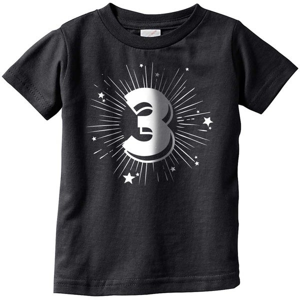 Shop Toddler 3 Years Old Birthday Party Age Celebration T Shirt For Kids