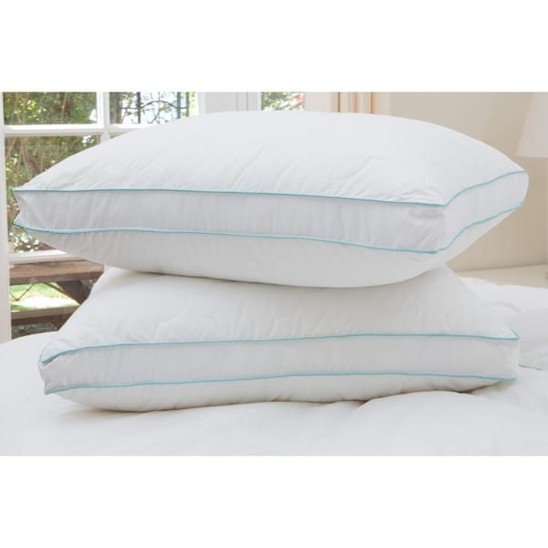 shop cozy clouds bounce back gusseted pillow set of 2. Black Bedroom Furniture Sets. Home Design Ideas