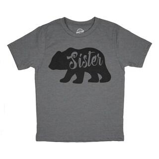 Toddler Sister Bear Tshirt Cute Funny Family Tee For Little Sister