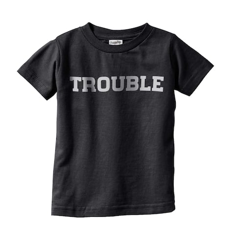Toddler Trouble Tshirt Funny Adorable Tee For Troublemaker Kid