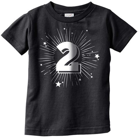 Toddler 2 Years Old Birthday Party Tshirt For Baby Age Celebration Tee