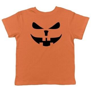 Toddler Buck Teeth Pumpkin Face Funny Fall Halloween Spooky T shirt