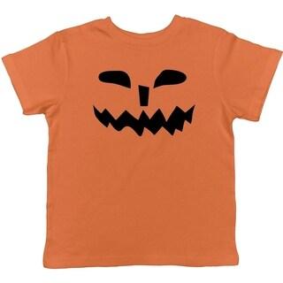 Toddler Spikey Teeth Pumpkin Face Funny Fall Halloween Spooky T shirt