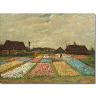 Flower Beds in Holland by Vincent Van Gogh Gallery Wrapped Canvas Giclee Art (24 in x 32 in, Ready to Hang)