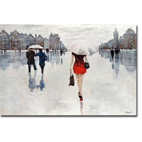 La Femme by Aziz Kadmiri Gallery Wrapped Canvas Giclee Art (24 in x 36 in, Ready to Hang)