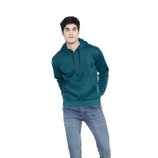 Blue Fleece Mens Sweatshirt Soft Pullover Hoodies Jumper Plain Jacket