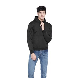 Mens Classic Black Pullover Hoodies Comfort Sweater Sports Sweatshirt