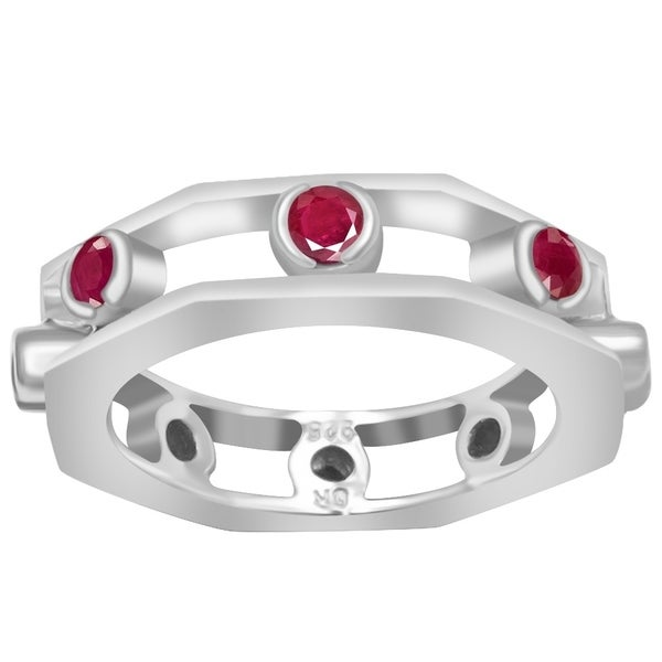 Fine Rings Jewelry & Watches 925 Parts Sterling Silver 1.20ct Engagement White Gold Round Cut Harmonious Colors