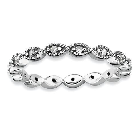 Sterling Silver Diamond Ring by Versil