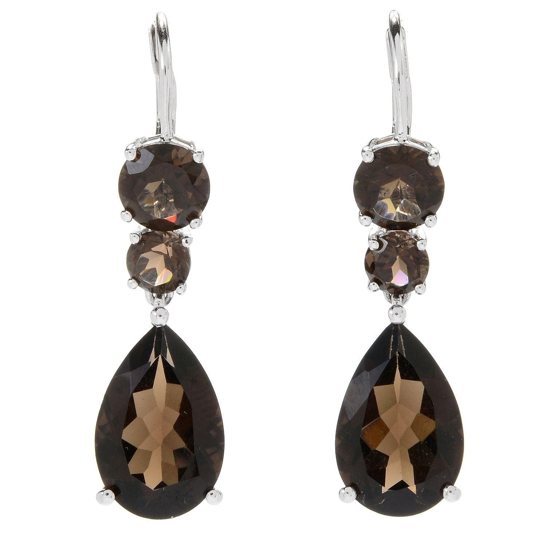 Smoky Quartz Gemstone Earring