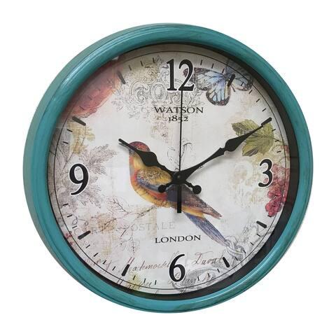 "Creative Motion 14"" Wall Clock with Bird Design - Multicolor"