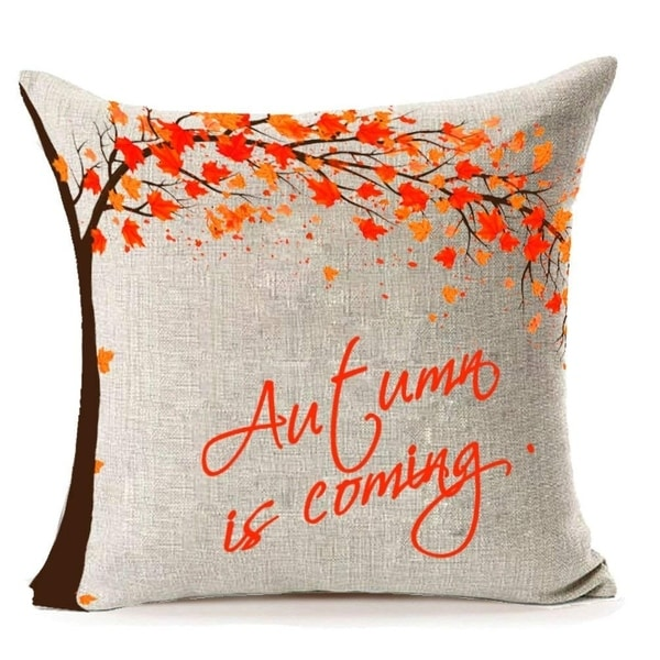 Autumn is Comeing Throw Pillow Case