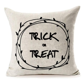Halloween Home Decor Trick or Treat Cotton Linen Pillow Covers