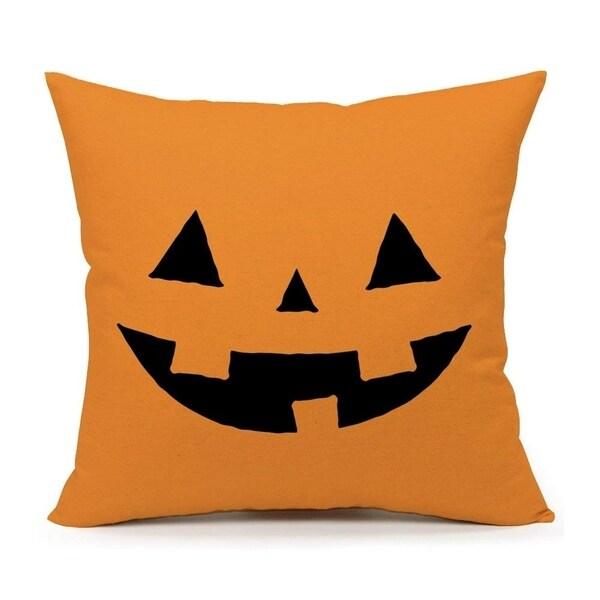 Yellow Halloween Abstract Pumpkin Pillow Case