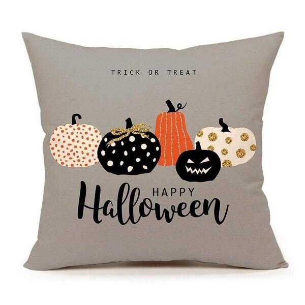 Halloween Pumpkin Throw Pillow Cover