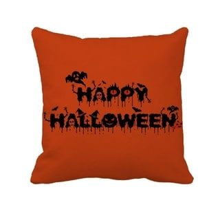 Happy Halloween Originality Party Orange Pillow Cover